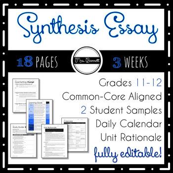 Synthesis Essay Unit (Editable!)