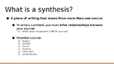 Synthesis Writing PowerPoint