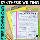 Synthesis Writing Student Reference Sheet Free Download
