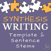 Synthesis Writing Guide with Sentence Stems FREE Resource
