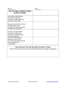 Synthesis for Comprehension with Poetry
