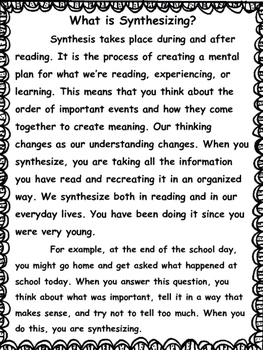 Bloom's Taxonomy: Synthesizing