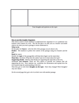 Synthesizing Graphic Organizer for a text with text features