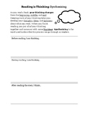 Synthesizing Handout - Use during Read Aloud