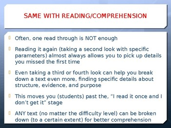 Synthesizing Info Across Texts (professional development)