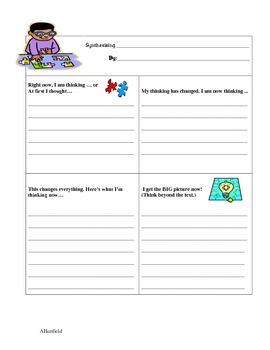 Synthesizing Lesson and Graphic Organizer