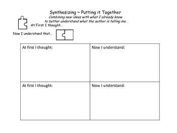 Synthesizing Reading Bookmark/handout