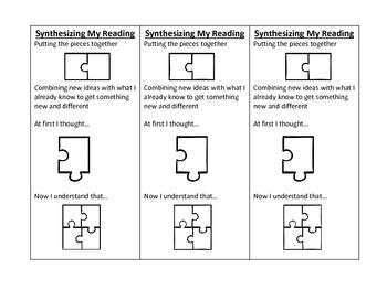 Synthesizing Reading Bookmark/handout