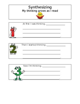 Synthesizing Worksheet for Guided Reading