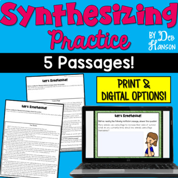 Synthesizing Worksheets: 5 Practice Passages
