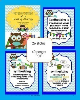 Synthesizing as a Reading Strategy, Power Point, Student Pages