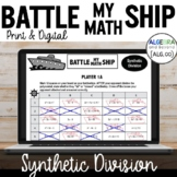 Synthetic Division Activity - Battle My Math Ship Game