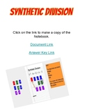 Synthetic Division Digital Worksheet