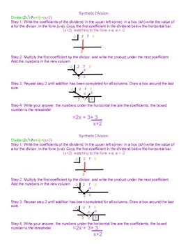 Synthetic Division Handout
