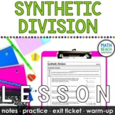 Synthetic Division Lesson