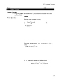 Synthetic Division Notes