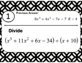 Synthetic Division Scavenger Hunt