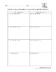 Synthetic Division Worksheet #2