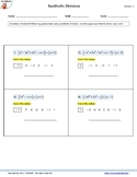 Synthetic Division Worksheet