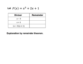 Synthetic Division by factorable quadratics