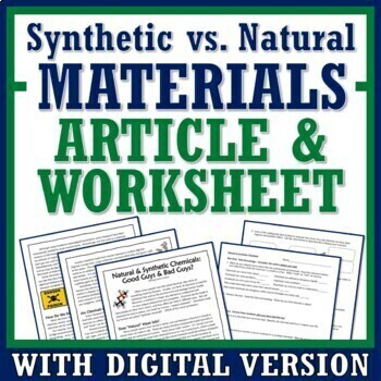 Synthetic Materials from Natural Resources & Impact on Society NGSS MS-PS1-3