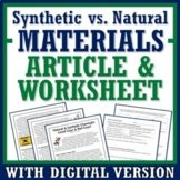 Natural Resources Synthetic Materials Impact on Society Wo