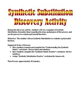 Synthetic Substitution Discovery Activity