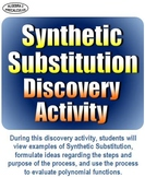 Synthetic Substitution Discovery Activity - Distance Learning
