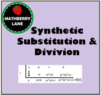 Synthetic Substitution and Division - A Closer Look