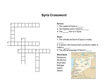 Syria Crossword Puzzle