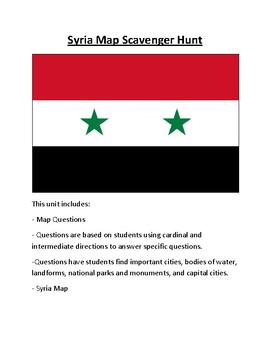 Syria Map Scavenger Hunt