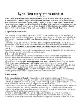 Syrian Conflict Articles & Analysis