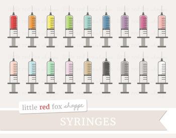 Syringe Clipart; Medical, Medicine, Doctor, Nurse