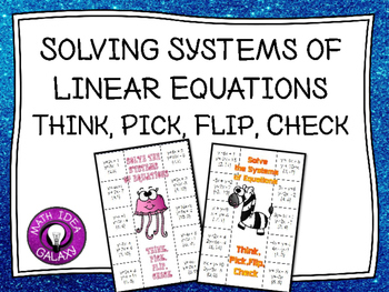 Systems of Linear Equations Practice Activity