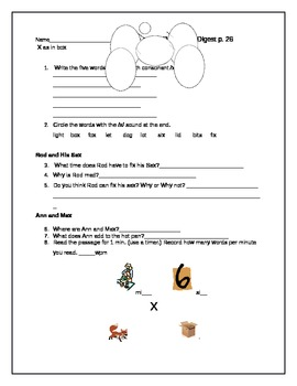 System 44 Decodable Digest 2.5 Worksheet