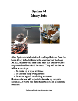 System 44 Messy Jobs Writing a Summary