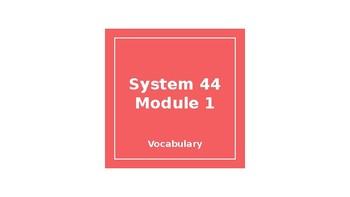 System 44 Next Generation Module 1 - Vocabulary Slide