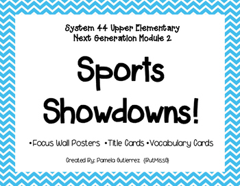 System 44 Next Generation Module 2 Sports Showdown Focus Wall