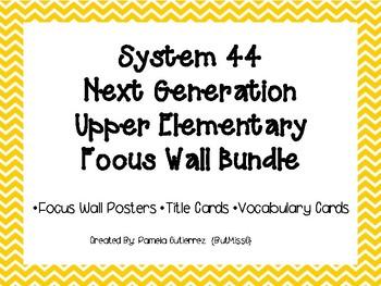 System 44 Next Generation Upper Elementary Focus Wall Bundle