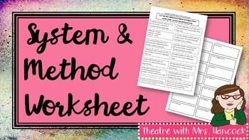 System/Method Worksheet
