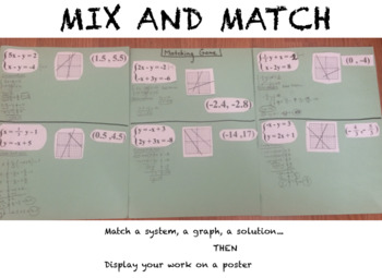 System Of Equations Lesson 10 - Matching Game