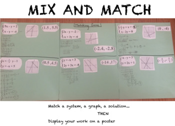 System Of Equations - Mix and Match