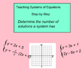 System Of Equations - Number Of Solutions (Smartboard Lesson)