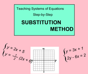 System Of Equations - Substitution Method (Smartboard)