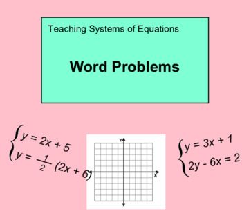 System Of Equations Word Problems Worksheet