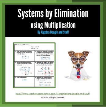 System Problems by Elimination using Multiplication Scaffo