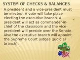 System of Checks and Balances activity.