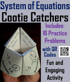 Solving Systems of Equations Activity (Algebra Cootie Catcher Review Game)