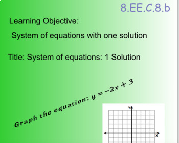 Systems of Equations  Intro 8.EE.C.8.b Lesson 1