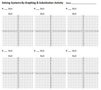 System of Equations Activities